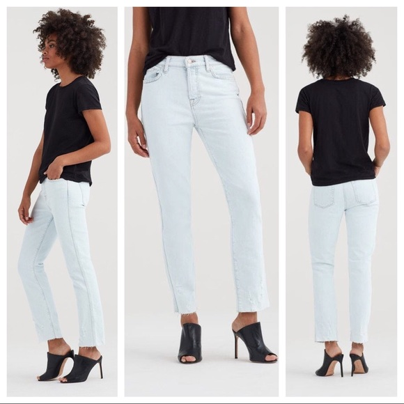 da9397012b30 7 For All Mankind Jeans   Edie Highrise Straight   Poshmark